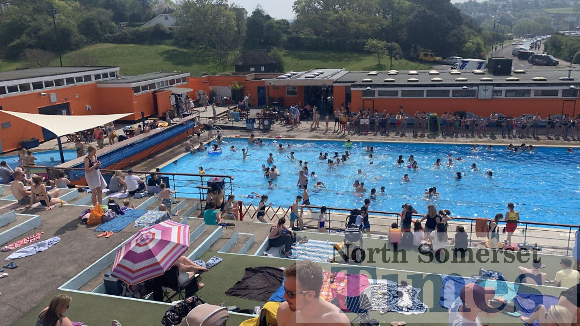 Record-breaking numbers at Portishead Open Air Pool ...